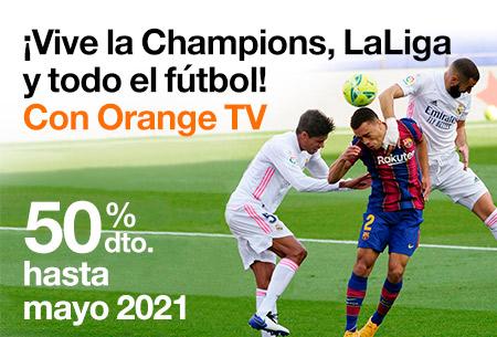Tu tarifa de Fibra + Móvil con TODO el fútbol al 50% dto. ¡No te pierdas la vuelta de la Champions!