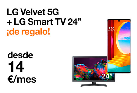 Llévate tu LG Velvet 5G con una LG Smart TV 24